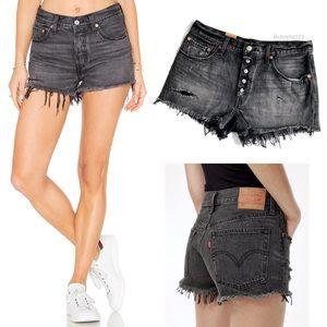 Levi's 501 Slashed Denim Shorts